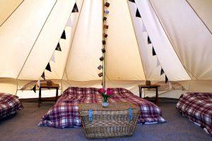 Family bell tent internal