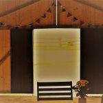 Birkenhill Wedding Venue Aberdeenshire Barn Barn doors from inside