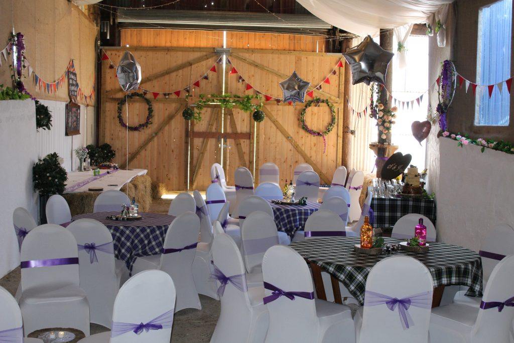 Authentically rustic and stylish wedding barn