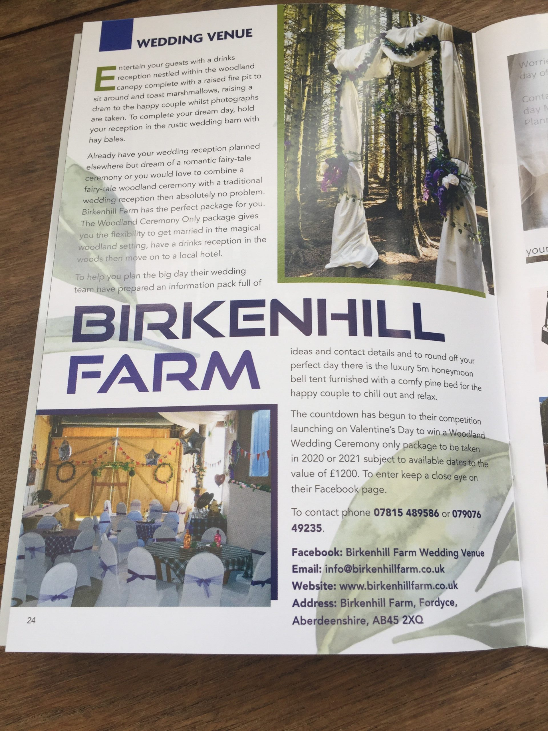 featured article for Birkenhill farm in Lifestyle magazine