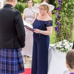 The Celebrant Angel conducting a marriage ceremony outdoors in Scotland