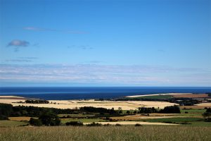 magnificent sea views to the Moray Firth beautiful blue skies